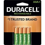 Duracell® Rechargeable NiMH AAA Battery 4-Pack