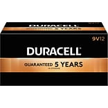 Duracell® CopperTop™ 9 Volt Batteries, 12/Box