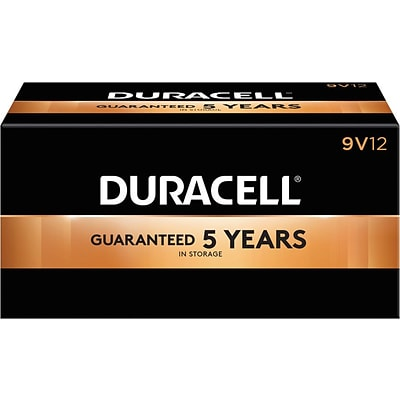 Duracell® Coppertop® 9V Alkaline Batteries, 12/Pack (MN1604BKD)