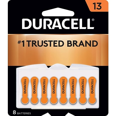 Duracell® Easy Tab® Hearing Aid Batteries, Size 13, 8/Pack