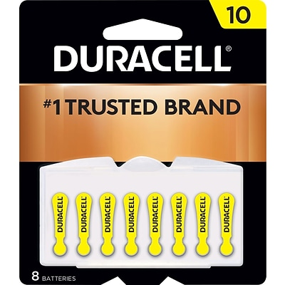 Duracell® Easy Tab® Hearing Aid Batteries, Size 10, 8/pk