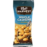 Nut Harvest Sea Salted Whole Cashews, 2.5 oz, 8 Pack