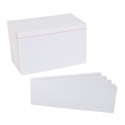 Quill Brand® 5 x 8 Ruled White Index Cards, 500/Pack (51006)