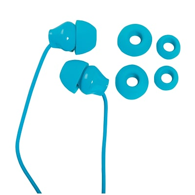 Staples Earbuds with Microphone, Teal
