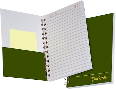 "Ampad® Gold Fibre® Classic Personal Notebook 5x7"", College Medium Ruling, White, 100 Sheets/Pad"