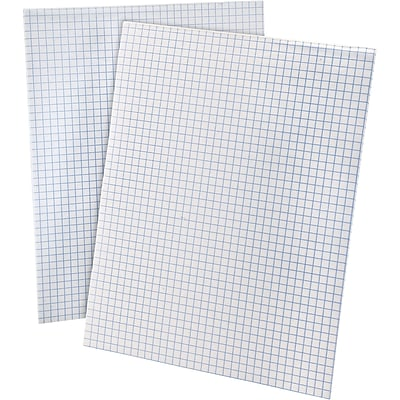 Ampad® Quadrille Pad 8-1/2x11, Quad Ruling Graph Paper, 4 Squares/Inch, 50 Sheets/Pad
