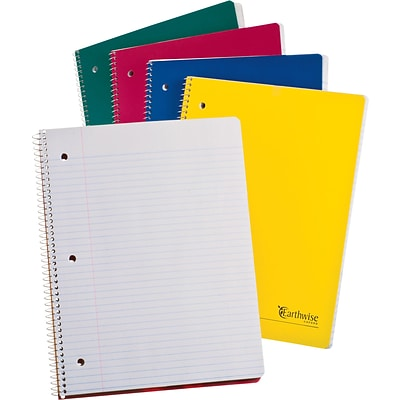 Ampad® Notebook 8-1/2x11, College/Medium Ruling, White, 100 Sheets/Pad, Punched