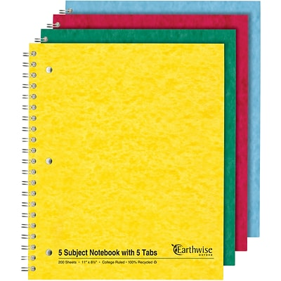 Ampad® Notebook 8-1/2x11, College Ruling, White, 200 Sheets/Pad, Punched
