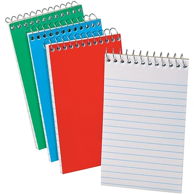 Ampad Wirebound Pocket Memo Book, 3 x 5, Narrow Ruled, 50 Sheets/Book, 3/Pk
