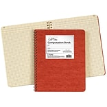 Ampad Computation Book with Red Cover, 12 x 9 1/2, Quadrille Ruled, 76 Sheets/Pad