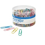 Quill® Jumbo Size Vinyl-Coated Paper Clips