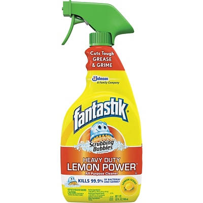 Fantastik® Scrubbing Bubbles® Lemon Power All Purpose Cleaner Spray; Lemon Scent, 32oz.