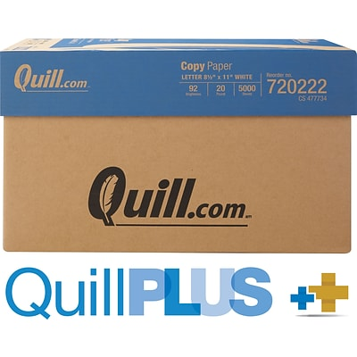 QuillPlus Paper— 8-1/2 x 11, Letter Size, 500 Sheets/Ream, 10 Reams/Carton