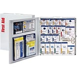 First Aid Only™ ANSI A+ SmartCompliance Large Food Service Metal 289 Pc First Aid Cabinet with Meds