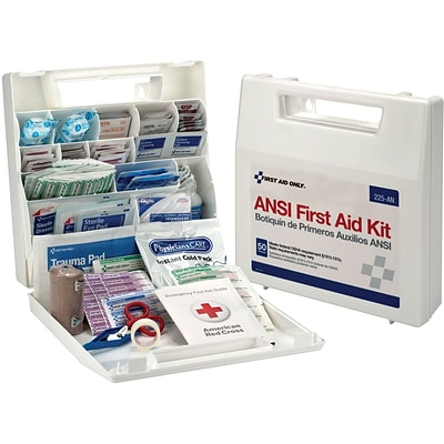 First Aid Only™ First Aid Kits, For 50 People, Wall-Mountable Plastic Case