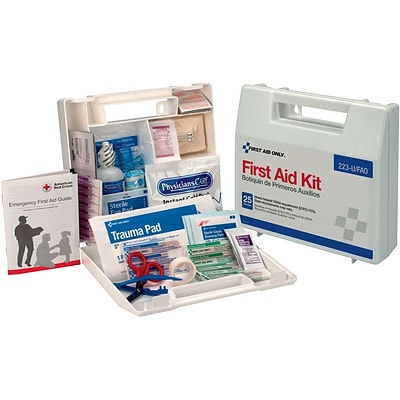 First Aid Only™ First Aid Kits, For 25 People, 107-Piece