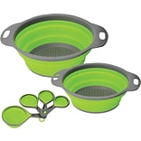 Collapsible Collander & Measuring Cup Set