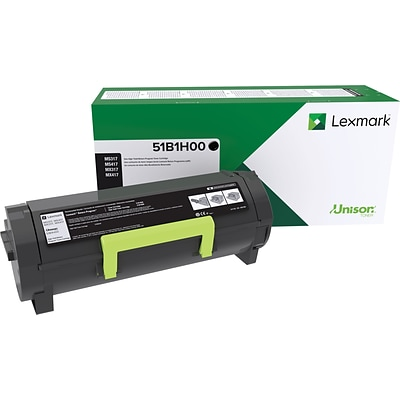 Lexmark 51B1H00 Black Toner Cartridge, High Yield