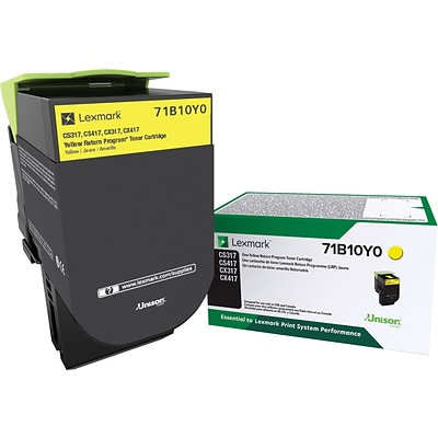 Lexmark 71B10Y0 Yellow Toner Cartridge, Standard