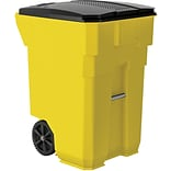 Suncast Commercial Wheeled Trash Can, 96 Gallon, Yellow (BMTCW96Y)