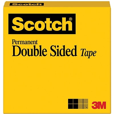 Scotch® Double Sided Tape, 1/2 x 1296, 1/Pack (665-1/2X36)