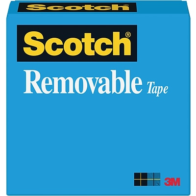 Scotch® Removable Tape, Invisible, Matte Finish, Repositionable 1/2 x 36 yds., 1 Core, 1 Roll (T9631811)