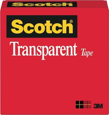 "Scotch(r) Transparent Tape; 1/2"" x 1296"", 1"""