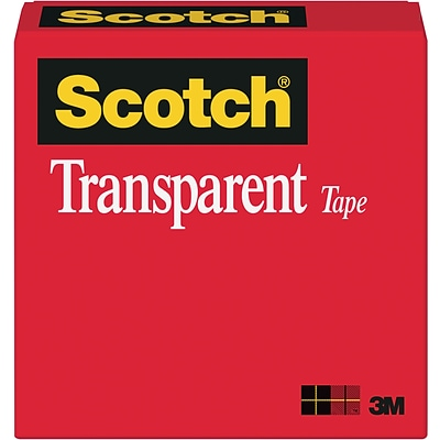 Scotch® Transparent Tape, 1/2 x 36 yds., 1 Roll (600-1/2X36)