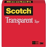 Scotch® Transparent Tape; 3/4 x 1296, 1 Core, 1/Pack