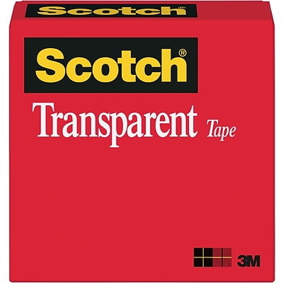 Scotch® Transparent Tape, 3/4 x 1296, 1 Core, 1/Pack