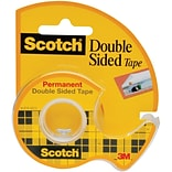 Scotch® Double Sided Tape, Permanent, 1/2 x 450, 1 Dispenser/Pack (137)