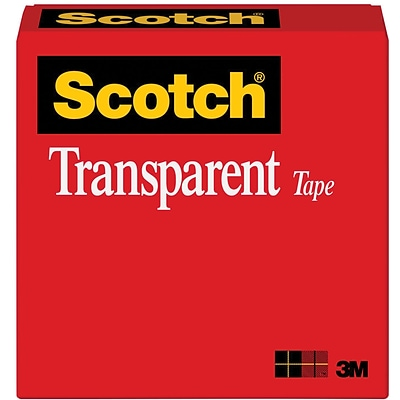 Scotch® 600 Series, Clear Transparent Tape, 1 x 2592 (72 yds), 36/Pack