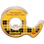 Scotch® 1/2 x 250 Double Sided Tape; Clear, 1 Roll