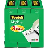 Scotch® Magic™ Tape, 1/2  x 1,296 , 3 Box...