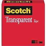 Scotch® Transparent Tape; 1/2 x 1296, 1 Core, 2/Pack