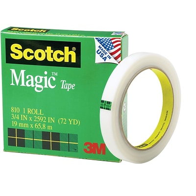 Scotch® Magic™ Tape, 3/4 x 2,592, 1 Box/Pack (810-3/4X72-12PK)
