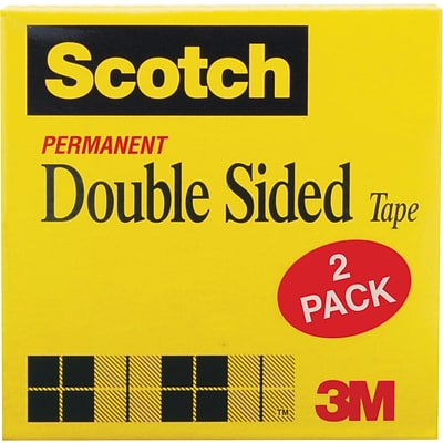 Scotch® Double-Sided Tape, 1/2x900, 1 Core, 2/Pack