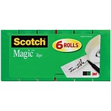 Scotch® Magic™ Tape Refill 810, 3/4 x 1,296, 1 Core, 6/Pk