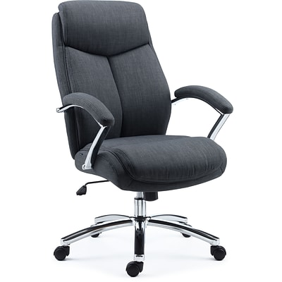Quill Brand® Fayston Fabric Computer and Desk Chair, Charcoal (51462)