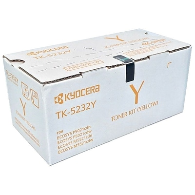 Kyocera TK-5232Y Yellow Toner Cartridge, High Yield