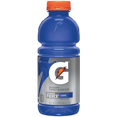 Gatorade® G Series Ready To Drink Thirst Quencher, Fierce Grape, 20 oz. Wide Mouth Bottle, 24/Pack
