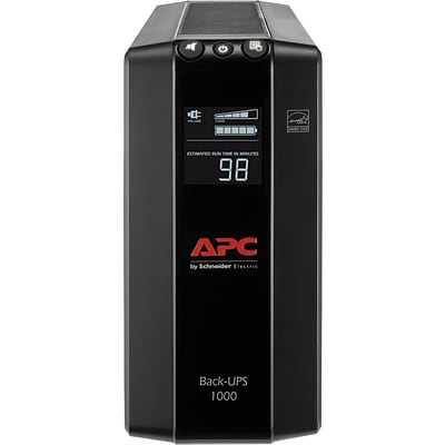 APC Back-UPS Pro Compact Tower 1000VA LCD Screen 8 Outlet (BX1000M)