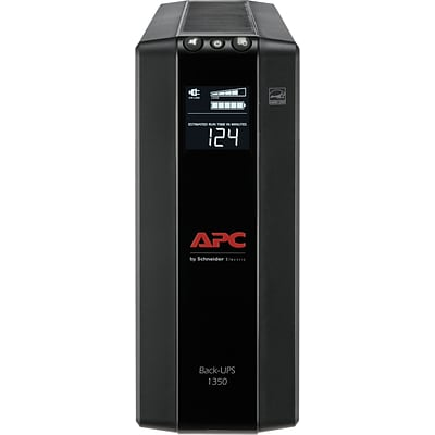 APC Back-UPS Pro Compact Tower 1350VA LCD Screen 10 Outlet (BX1350M)