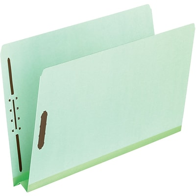 Pendaflex Extra-Sturdy Pressboard Expansion Fastener Folders, 2Exp, Straight Cut Tabs, Letter Size, Leaf Green, 25/Box (17180)