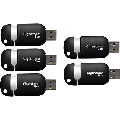 Gigastone 8GB USB2.0, Black and Silver (GS-Z08GCNBLX5-R)