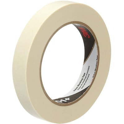 3M™ Value Masking Tape 101+ Tan, 18 mm x 55 m, 12 per pack (MMM101-18)