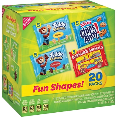 Nabisco Fun Shapes Snack Multi-Pack, 20/CT