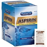 First Aid Only® PhysiciansCare® Aspirin, 2 Tablets/Packet, 125 Packets/Box (54034)