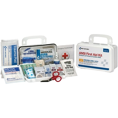 First Aid Only™ ANSI A Bulk Hard Plastic First Aid Kit for 10 People (90754)
