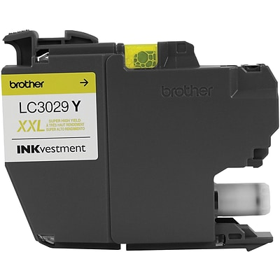 Brother Ink Cartridge, Yellow, XXL Super High Yield INKvestment (LC3029Y)